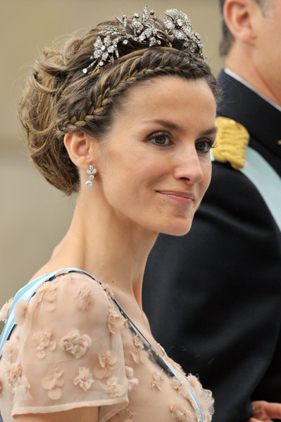 The Princess of Asturias at the wedding of the Swedish Crown Princess in 2010
