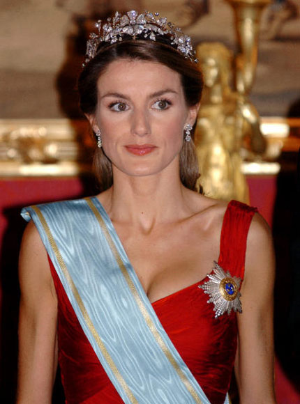 Princess Letizia at the Royal Palace