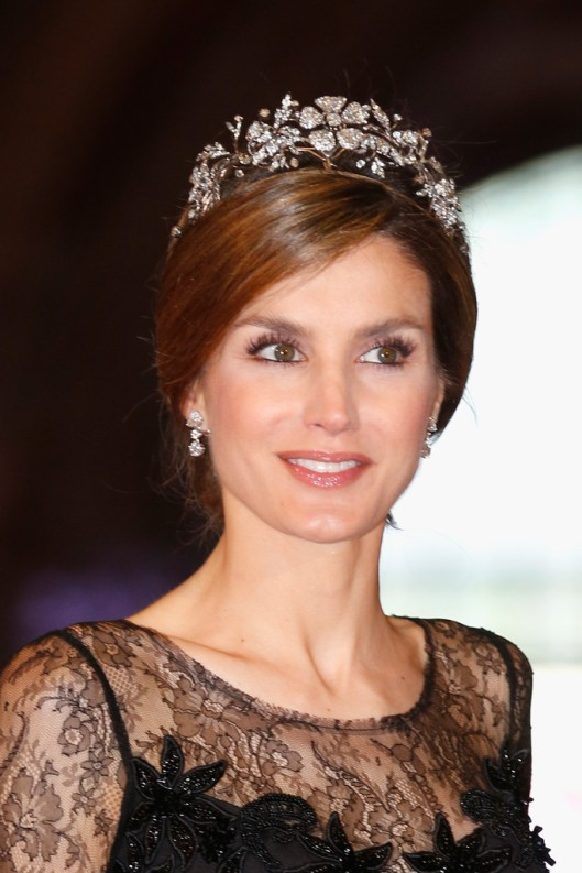 Doña Letizia at a dinner in Amsterdam in 2013