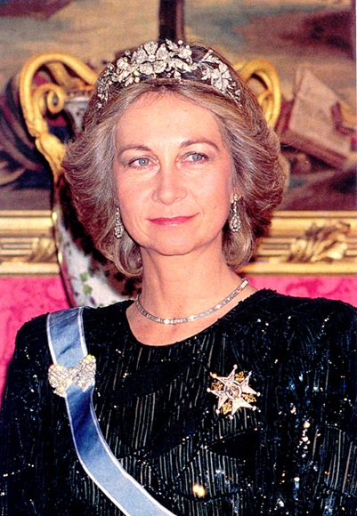 Doña Sofía wearing the tiara